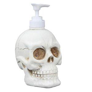 Distributeur liquide Bouteille Vintage Skull Forme de la pompe à domicile Bouteille de la bouteille Lave-linge Conteneur de toilette de toilette de toilette 350 ml, embouteillage fractionné