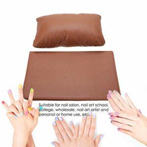 Doux Ongles Table Accoudoir Coussin Manucure Table Tapis Nail Art Main Oreiller pour Salon de Beauté Utilisation pour Nail Art(coffee)