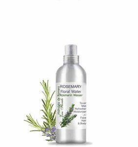 Eau Florale Hydrolat de Romarin 100% Pure ● Lotion Peaux Grasse et Imperfections, Après Rasage ● Spray Cheveux ● Parfum d'ambiance ● Eau aromatique boissons (200 ml)