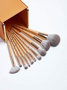 Ensemble de pinceaux de Maquillage dorés 10 pièces Pinceaux à Ombre à paupières Pinceaux de Maquillage de beauté Poignée Pinceaux à Poudre