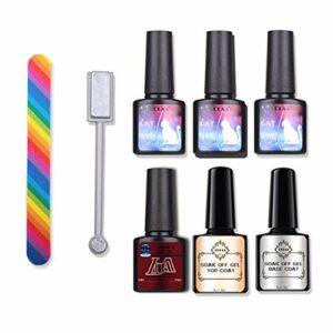 Ensemble de vernis à ongles en gel Soak Off UV LED Kit de manucure Nail Art Top Coat et couche de base inclus Vernis à ongles Vernis à ongles Ensemble de vernis à ongles Ensemble de vernis à de