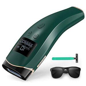 Epilateur Lumiere Pulsee 999900 Flashs avec 10 niveaux pour le corps, le visage et les jambes Epilation Laser