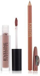 Eveline Cosmetics 01 Oh My Lips Rouge à Lèvres Matte Liquid 4 ml + Crayon à Lèvres