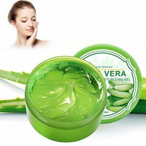 Gel Aloe Vera Bio – Hydratant Visage & Corps Cheveux, Hydrate la peau endommagée, Idéal pour les peaux sèches et stressées et les coups de soleil, l'acné 300g