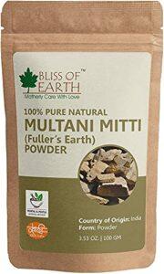 Glamorous Hub Bliss Of Earth 100% Pure Poudre Multani Mitti | Poudre de terre de Fuller | 100G | Idéal pour les cheveux, le visage, la peau