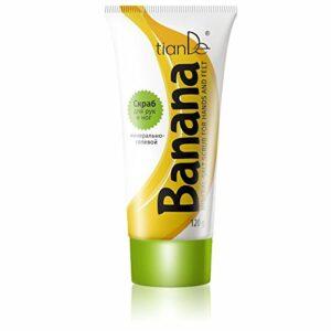 Gommage sels minéraux pour les mains et les pieds « banane » TianDe 40118, 120g, « Tropical Delights » pour les mains et les pieds