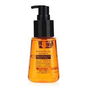 Huile d'essence croissance des cheveux, huile d'argan naturelle 70ML traitement perte cheveux sérum capillaire amincissement/calvitie/répare les follicules pileux
