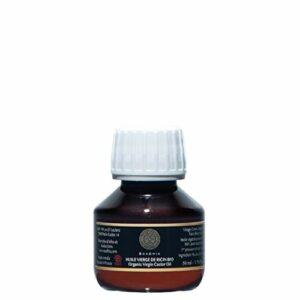 Huile Vierge de Ricin bio 50 ml Castor oil Végétale 100% pure & Naturelle  1ere pression à froid  Favorise la pousse Cheveux,Cils,Ongles, Barbe,  Hydrate Cuir Chevelu & Peau Ricinus communis Seed oil