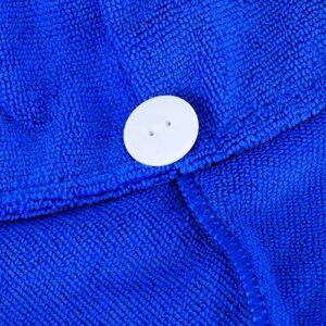 Jacksing Chapeau de séchage des Cheveux, Enveloppement de Serviette de Cheveux, Plus Rapide pour Les Voyages en Famille(Sapphire)