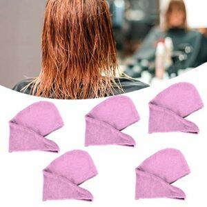 Jinyi Chapeau de séchage des Cheveux, Enveloppement de Serviette de Cheveux, Chapeau de Cheveux en Microfibre Lisse, Piscine de Gym pour Les Voyages en Famille(Light Purple)