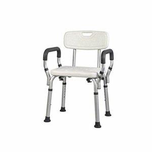 JJZXD Chaise de Douche avec Bain arrière Bras Design hygiénique, Outils Rapide et Facile de l'Assemblée, Leur Hauteur Cuissard léger réglable