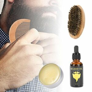 Kit d'entretien de barbe pour les cheveux et le coiffage – 4 pièces – Produits de soins