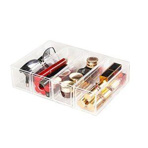 linger Boîte de Rangement Multifonctionnel de l'organisateur cosmétique Pince à lèvres Acrylique Transparent Brosse de Maquillage à la Maison Papeterie de Bureau (Color : Clear)