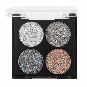 Lingwear Maquillage brillant, poudre tonifiante ombre à paupières paillettes flash fard à paupières mat cosmétique épaisse holographique corps et cheveux brillants décoration onglesde maquillage
