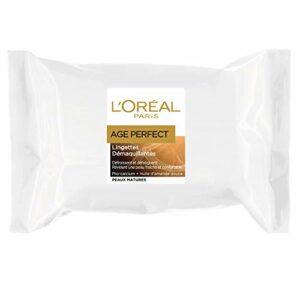 L'Oréal Paris – Age Perfect – Lingettes Démaquillantes – Peaux Matures – Pack de 25