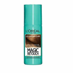 L'Oréal Paris Spray Instantané Correcteur de Racines & Cheveux Blancs – Magic Retouch – Châtain Clair – 75 ml