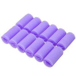 Lot de 36 rouleaux en mousse pour cheveux – Doux et endormi – Doux – Pour coiffer les cheveux – Violet