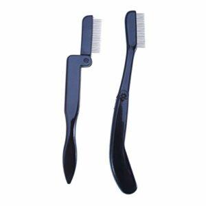 Lurrose Lurrose Lot de 2 peigne à cils et sourcils en acier inoxydable pour le maquillage des yeux et des cils et des sourcils