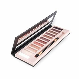 Maquillage scintillant mat, maquillage tache de maquillage palette ombre Terre 12 couleurs lumineuses lumineuses étanches longues époustoufles