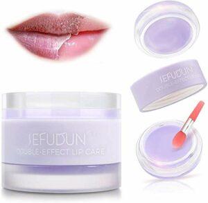 Masque de sommeil pour les lèvres et masque de gommage pour les lèvres avec double effet, réparation des lèvres sèches et gercées, hydratant pour les lèvres, baume réparateur pour les lèvres