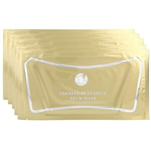 Masque pour le Cou, 5Pcs Collagène Anti-Rides Lifting du Cou Masque Hydratant Raffermissant Intense pour Resserrer la Peau Lift Soins du Cou, Patchs Anti-Rides Visage