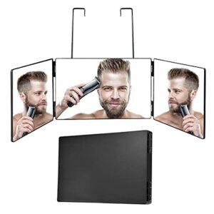Miroir 360 Miroir De Maquillage 3 Voies Miroir Triptyque avec Supports Hauteur Réglable pour Maquillage, Peignage De Cheveux, Miroir Suspendu,Le Rasage, Miroir Coiffeur