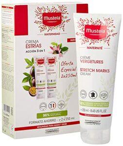 Mustela 48623–Lot de 2 tubes de crème corporelle anti vergetures, 2x 250ml