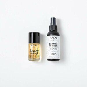 NYX Professional Makeup Kit Maquillage Base de Teint & Spray Fixateur, Primer Honey Dew Me Up, Vaporisateur Dewy, Préparation & Finition pour un Maquillage Longue Tenue