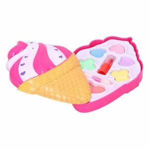 Outil cosmétique lavable pour enfant, Palette de maquillage soluble dans l'eau, outil de maquillage de jeu de simulation de fille pour le mariage de fête d'anniversaire, reconstitution