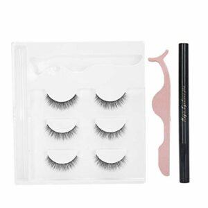 Outil de maquillage de cils Eyeliner ensemble de faux cils imperméable pour la beauté pour la vie quotidienne pour un(E40 green box packaging)