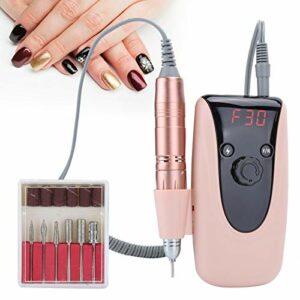 Perceuse à ongles, machine de manucure, batterie intégrée Apparence exquise Pratique Portable pratique pour le ménage Dames Salon de manucure Femmes(Transl)
