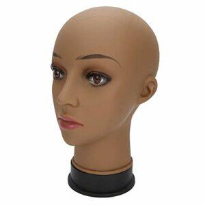 Perruque de couleur de peau de café affichant la tête de formation de cosmétologie perruque exquise faisant la tête de mannequin perruque féminine salon de coiffure pour l'affichage de