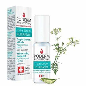 PODERM – MYCOSE ONGLE TRAITEMENT  Aux plantes exceptionnelles puissantes antifongiques et réparatrices  Soin professionnel pied/main  Facile & rapide  Swiss Made