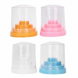 Porte-forets à ongles Transparent Boîte de rangement pour forets à ongles Boîte d'affichage pour forets à ongles pour le soin des ongles pour le salon de beauté Utilisation pour le salon de