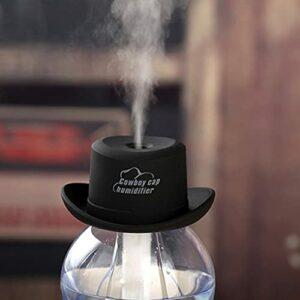 QiKun-Home Humidificateur de Chapeau de Cowboy créatif USB Noir