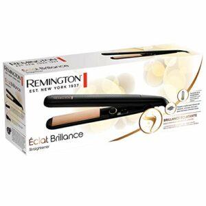 Remington Fer à Lisser, Lisseur Advanced Ceramic Soin Eclat Brillance, Plaques Flottantes, Cheveux Doux, Lisses et Soyeux – S6308 Eclat Brillance