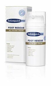 Salvequick ® | Foot Rescue All in 1 Cream | Effet hydratant fort et meilleur processus de renouvellement naturel de la peau pour une sensation lisse et douce sur les pieds | 100 Ml