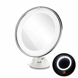SMEJS Maquillage Miroir antibuée Miroir de Maquillage avec Support Ventouse 360 Rotation Douche Shave Miroirs