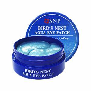 SNP – Bird´s Nest Aqua Eye Patch – 60 x pads pour les yeux contre les cernes et les rides – Eye Patch Korean – Eye Pad – Yeux patch