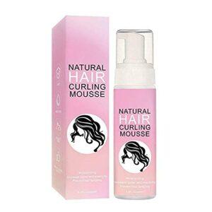 Spray coiffant pour cheveux bouclés, mousses coiffantes pour l'amélioration des boucles, anti-frisottis sculptant les cheveux bouclés Mousses de boucles naturelles pour cheveux ou ondulé