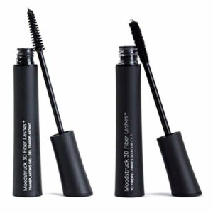 SSTIAN 2pcs 3D Natural Mascara Waterproof avec Fibre Brush Construits Outils de Maquillage épais et Riche Cils (Couleur : Noir)