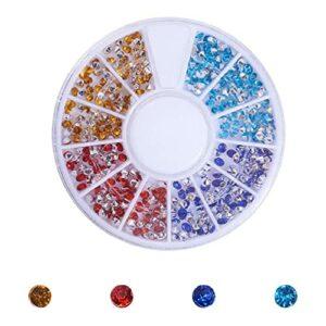 Strass ronds en verre à dos plat de 2 à 2,5 mm pour loisirs créatifs, beauté, maquillage, nail art, accessoires