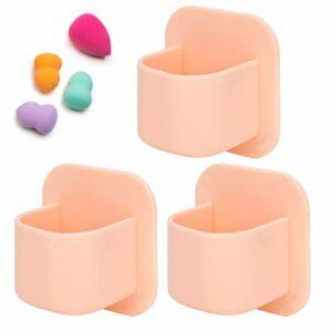 Support cosmétique de houppette de séchage, support d'éponge de maquillage, facile à pour des bouffées pour des rouges à lèvres(Nude pink)