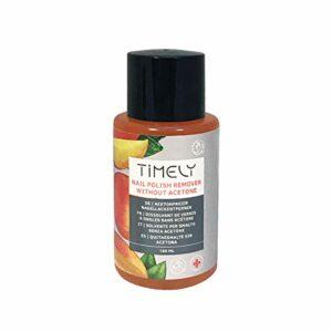 Timely – Dissolvant sans acétone pour vernis à ongles avec vitaminesE et A et protéines de soie, petite taille, 150ml