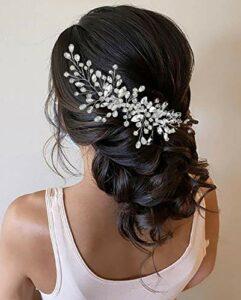 Unicra Peigne à cheveux en cristal argenté pour mariée – Accessoire de coiffure pour femme et fille