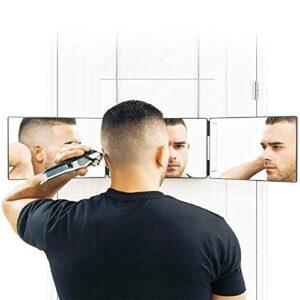 Westars Miroir 360°, Self Cut Mirror 3 Faces Miroir De Coiffeur Voir L'arrière De La Tête pour La Coupe De Cheveux, Le Coiffage, Le Rasage, Réglables en Hauteur, Coiffure Miroir