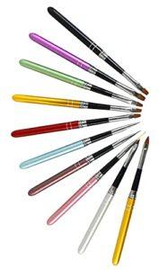 Xiaoyu 10PCS stylo à pois, pinceau à vernis, set de brosses à ongles en gel UV, kit d'outils de beauté pour ongles