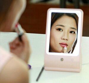 2 en 1 humidificateur et un miroir de maquillage humidificateur USB , pink