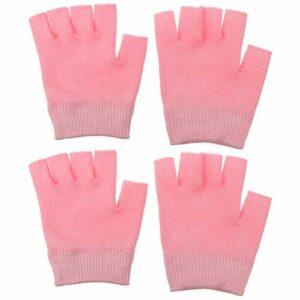 2 paires de gants hydratants sans doigts pour soins des mains