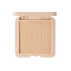3INA MAKEUP – Vegan – Maquillage Sans Cruauté – The Compact Powder 618 – Sable – Fini Soyeux Naturel – Couvrance Uniforme – Texture Confortable et Lumineuse – Facile à Estomper